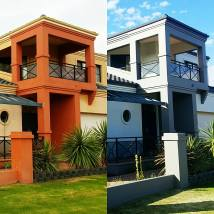 Before and After | Full exterior repaint to a two storey beach side home