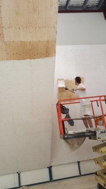 Preparation | Movement Co new gymnasium | Full internal new paint to all walls, blocks, rails and bars