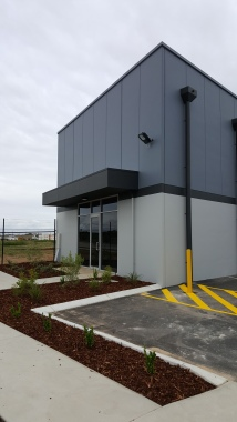After | Commercial warehouse new build | Full exterior new paint