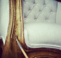 Painting | Transforming french provincial chairs with a touch of gold